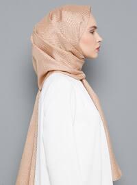 Camel - Printed - Shawl