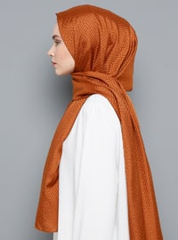 Terra Cotta - Printed - Shawl