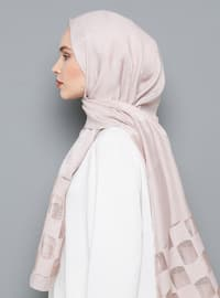 Mink - Plain - Viscose - Shawl