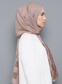 Stone - Mink - Plain - Viscose - Shawl