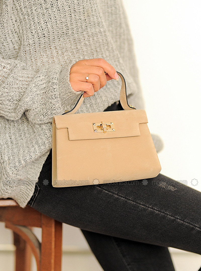 Beige - Satchel - Clutch Bags / Handbags