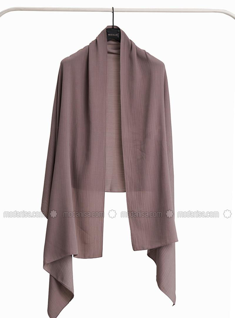 Gray - Plain - Shawl Wrap