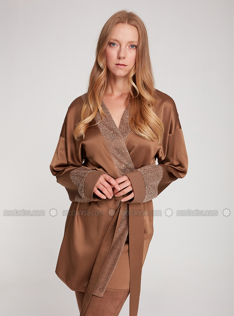 Brown - Unlined - Abaya