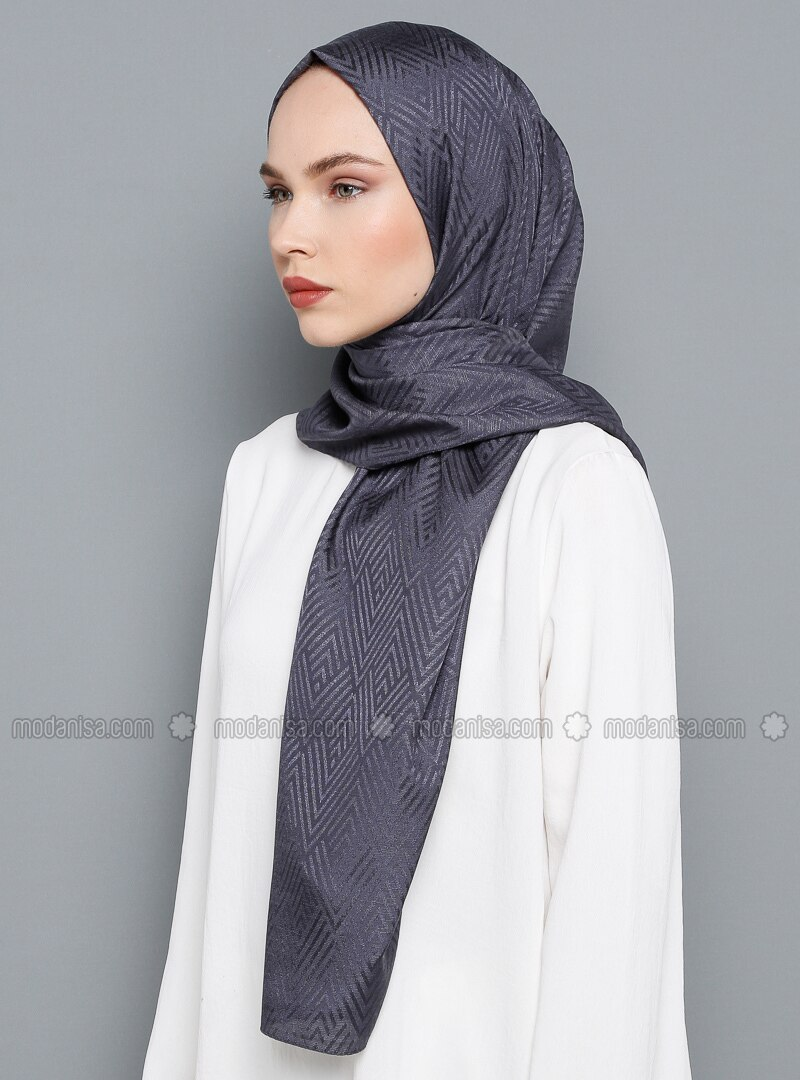 Anthracite - Printed - Shawl