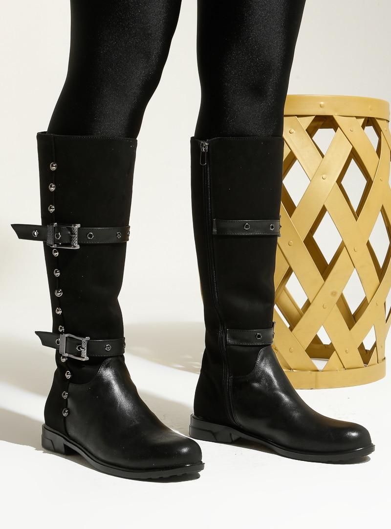Tesettür Çizme Art Shoes Siyah Kadın 36