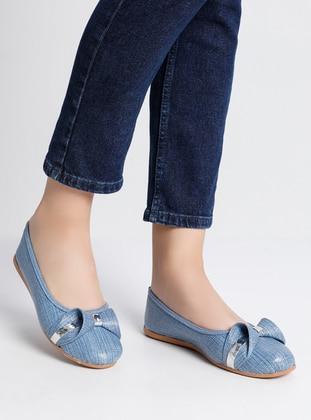 Blue - Blue - Flat - Flat Shoes