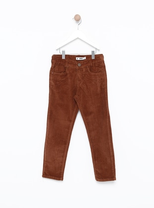 - Unlined - Brown - Boys` Pants