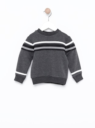 Polo neck -  - Unlined - Gray - Boys` Sweatshirt