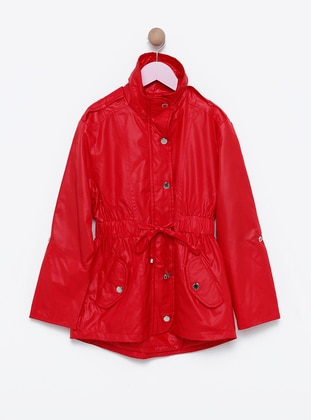 Polo neck -  - Unlined - Red - Girls` Jacket