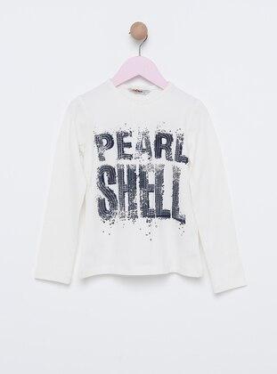 Polo neck -  - Unlined - Navy Blue - Girls` Sweatshirt
