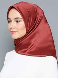 Terra Cotta - Red - Plain - Scarf
