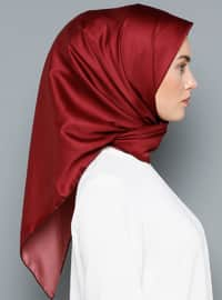 Red - Plain - Scarf