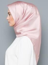 Pink - Powder - Plain - Scarf