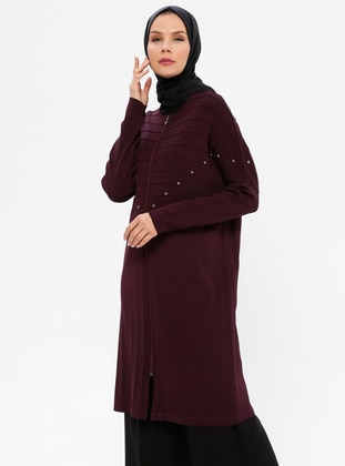 Plum - Crew neck - Viscose - Tunic