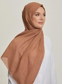 Cinnamon - Plain - Cotton - Shawl - Şal