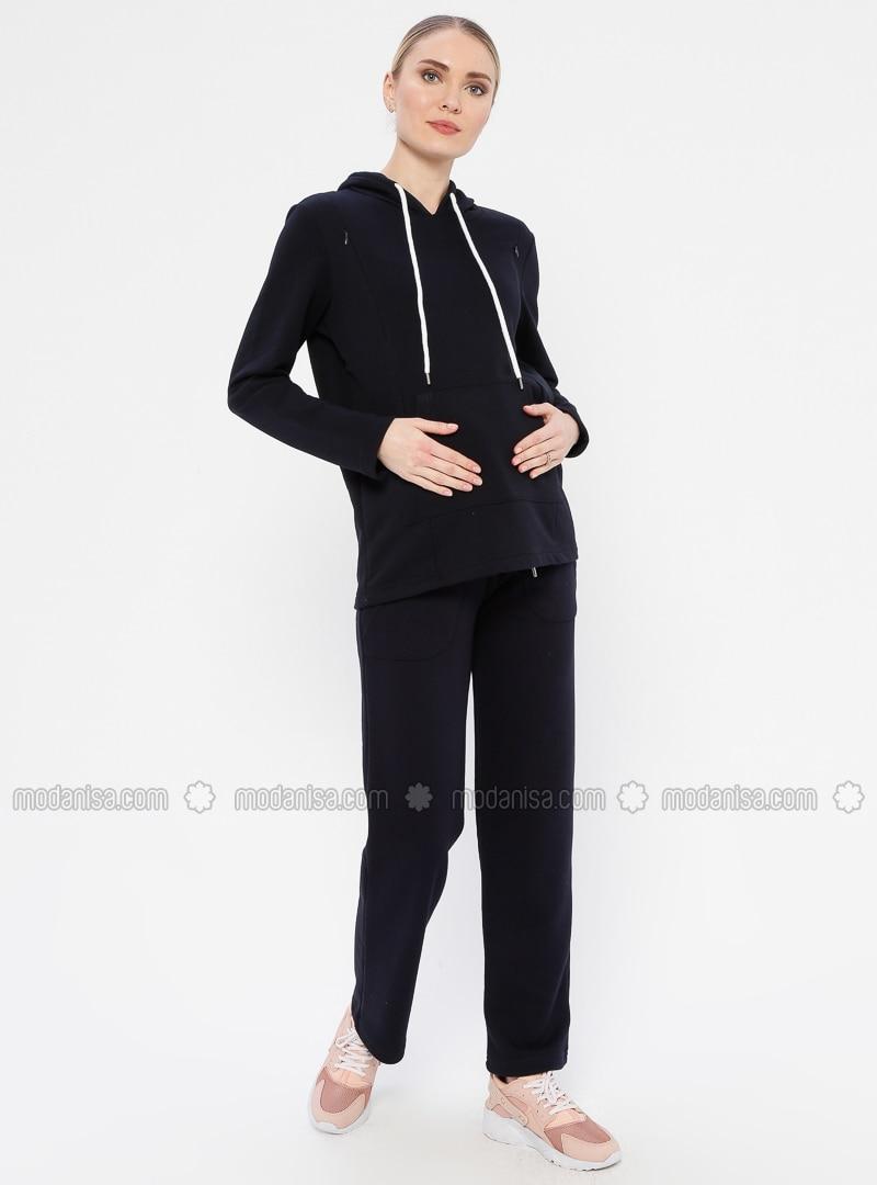 Navy Blue -  - Maternity Pants