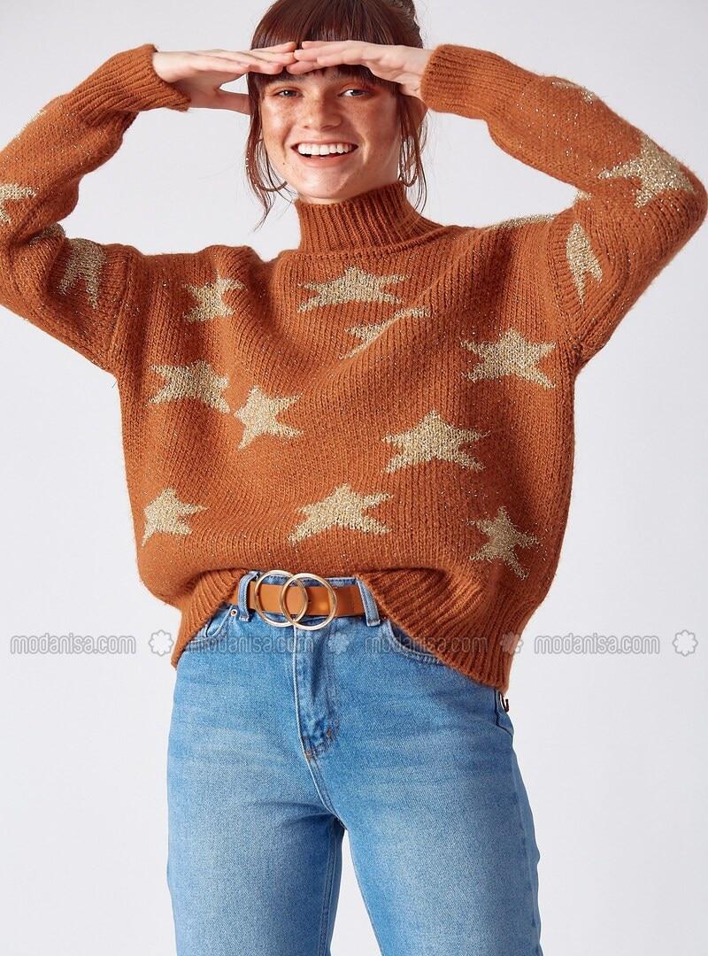 Tan - Knitwear