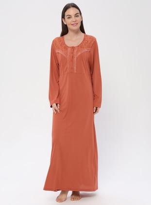 Terra Cotta - Sweatheart Neckline - Nightdress