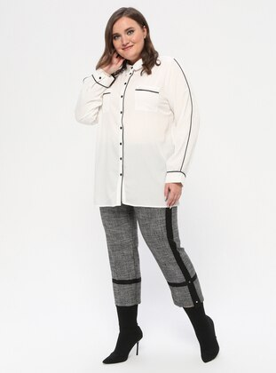 Smoke - Viscose - Plus Size Pants