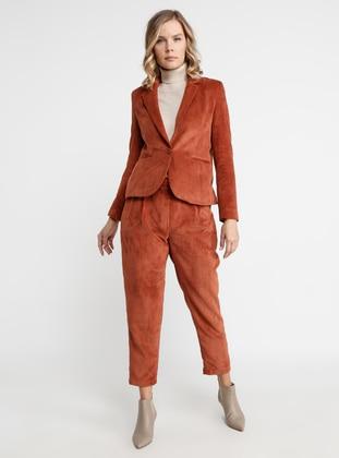 Terra Cotta - Fully Lined - Shawl Collar - Nylon - Jacket