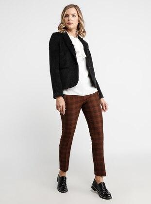 Black - Fully Lined - Shawl Collar - Nylon - Jacket