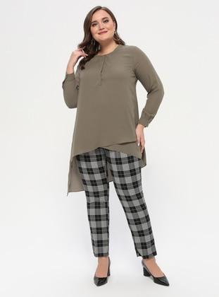 Green - Plus Size Pants