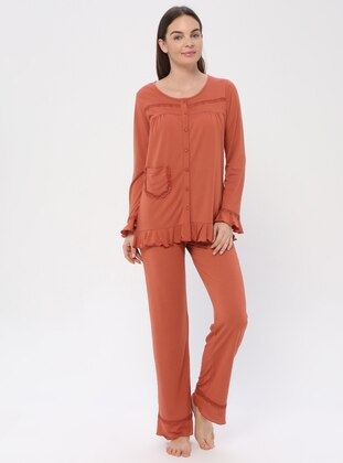 Terra Cotta - Crew neck - Pyjama
