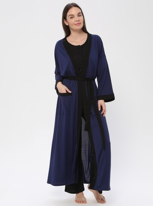 Navy Blue - Viscose - Pyjama - PILLOWTALK