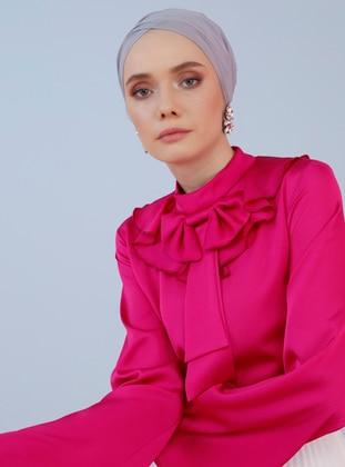 Fuchsia - Pink - Polo neck - Blouses