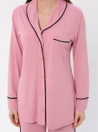 Dusty Rose - V neck Collar - Pyjama