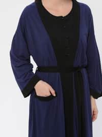 Navy Blue - Viscose - Pyjama
