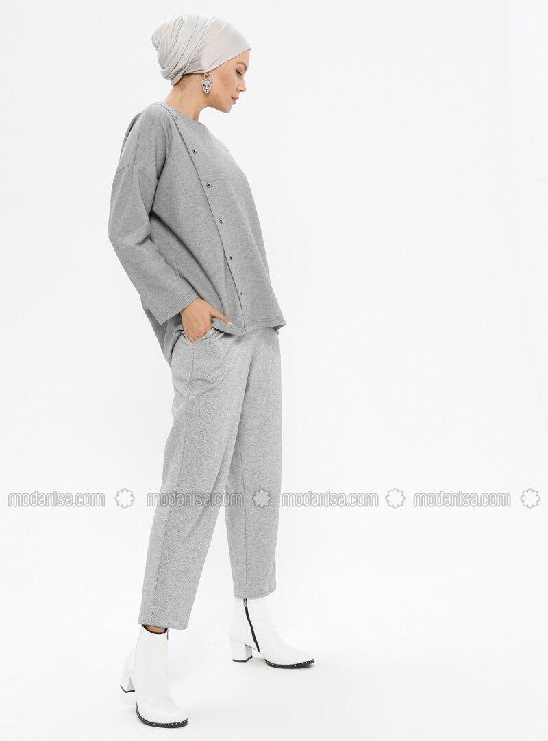 Gray -  - Pants