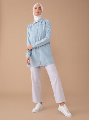 Baby Blue - Stripe - - Pants