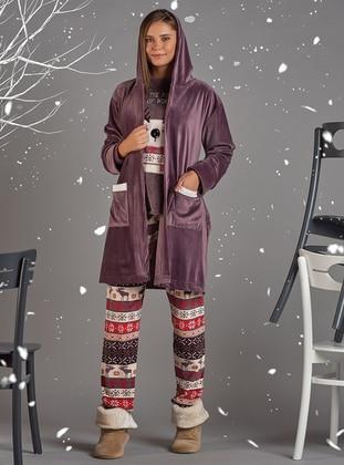 Multi - Viscose - Morning Robe