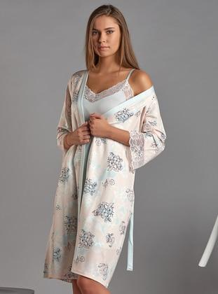 Ecru - Viscose - Morning Robe