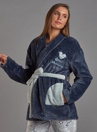 Gray - Viscose - Morning Robe