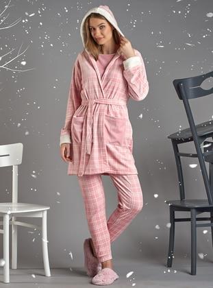 Pink - Viscose - Morning Robe