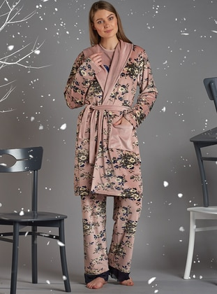 Powder - Viscose - Morning Robe - Sevim