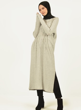 Gray -  - Viscose - Tunic