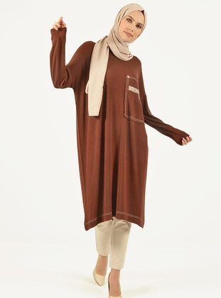 Brown -  - Viscose - Tunic