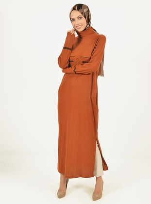 Cinnamon - Polo neck - Unlined - Knit Tunics