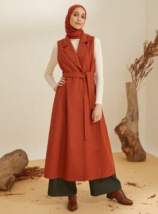 Cinnamon - Shawl Collar - Acrylic -  -  - Vest