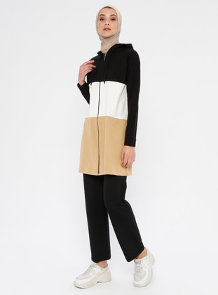 White - Camel - Ecru - Unlined -  - Suit