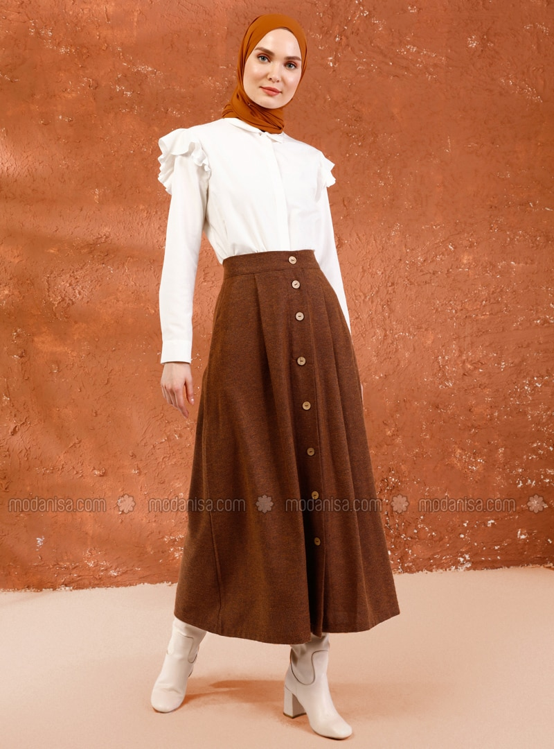 Mustard - Unlined - Acrylic -  - Skirt