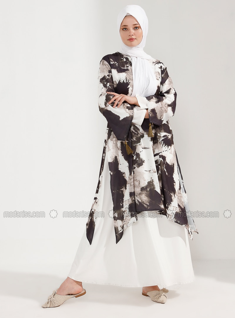 Khaki - Fully Lined - Crew neck - Plus Size Dress