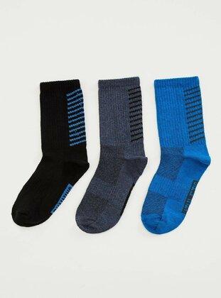Navy Blue - Socks - DeFacto