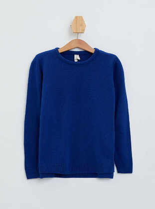 Blue - Girls` Pullovers - DeFacto
