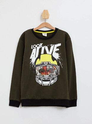Khaki - Boys` Sweatshirt