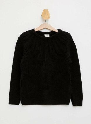 Black - Boys` Pullover
