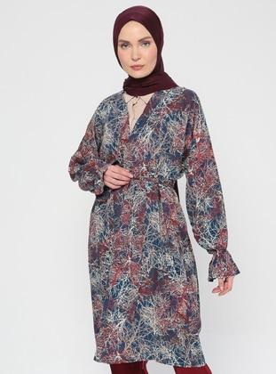 Floral - Unlined - V neck Collar - Jacket